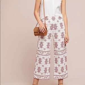 Anthropology embroidery pants.
